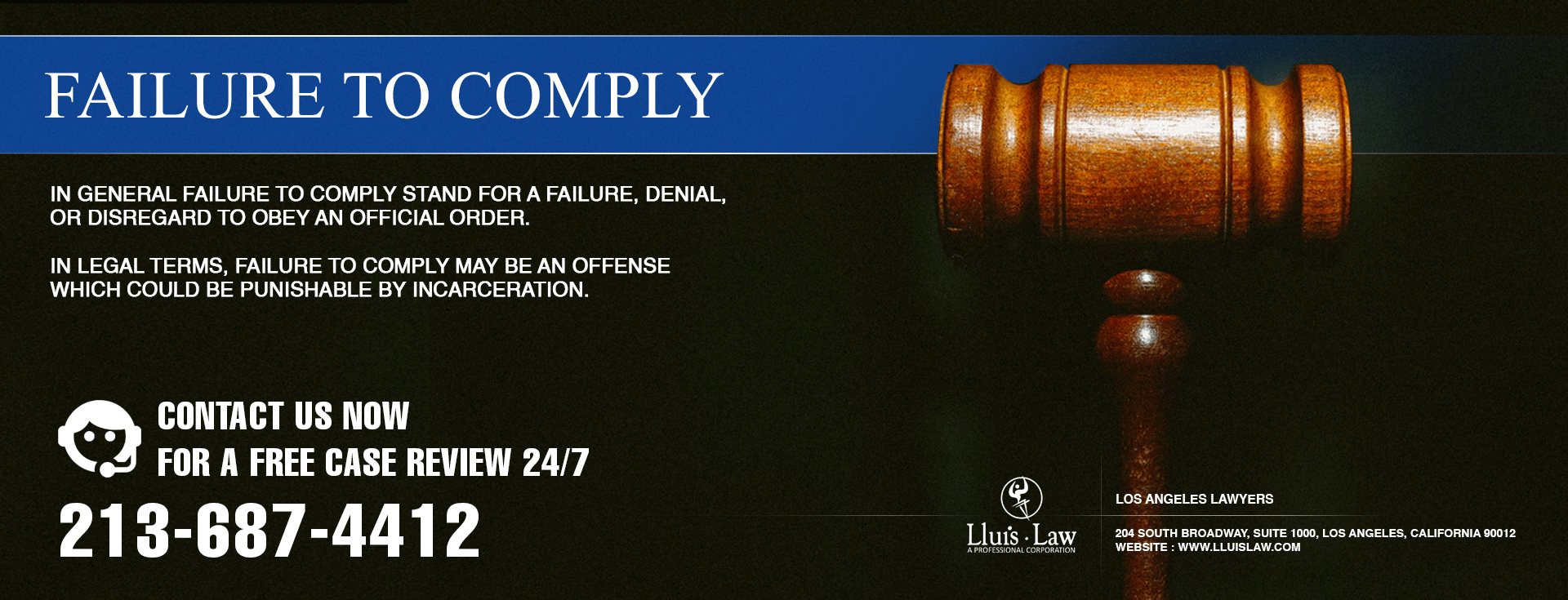 Fail To Comply Criminal Defense Lawyer